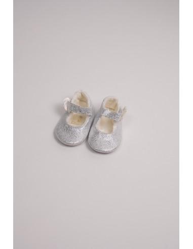 Pantofi fete - argintiu